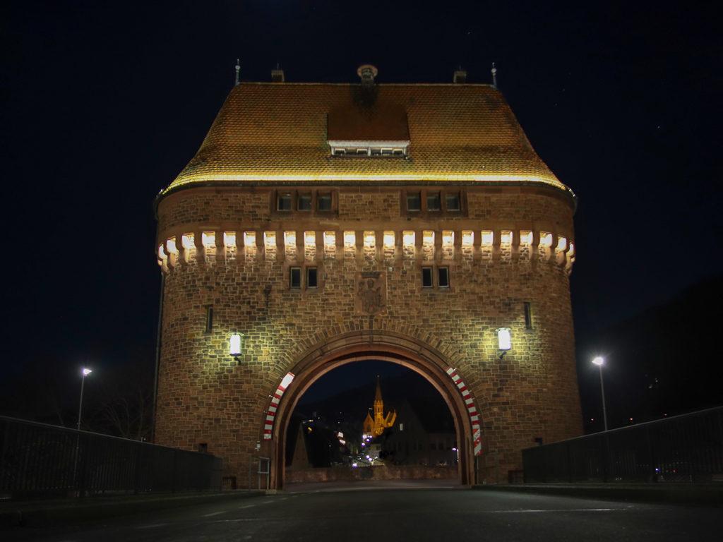 Miltenberg, Mainbrücke, Brückenturm, Evangelisch-Lutherische Kirche