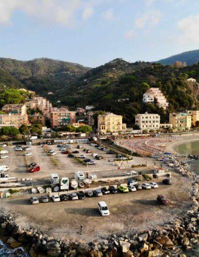 Stellplatz direkt am Meer in Monterosso / Cinque Terre