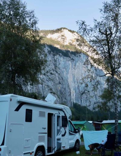 """Der Campingplatz """"Jungfrau"""" im Lauterbrunner Tal"""