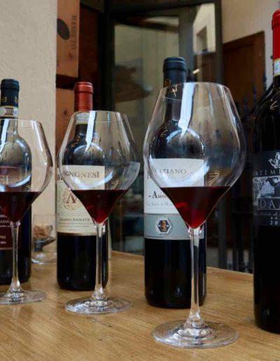 """Eine kleine Weinprobe der """"Vini Nobili di Montepulciano"""" in der Enoteca """"Dolce Vita"""""""