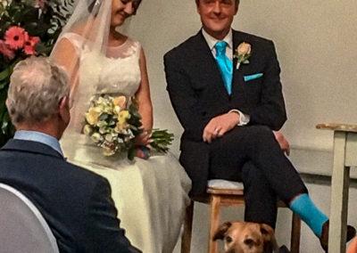Natürlich durfte Nero auf unserer Hochzeit nicht fehlen - er hat uns die Ringe gebracht!