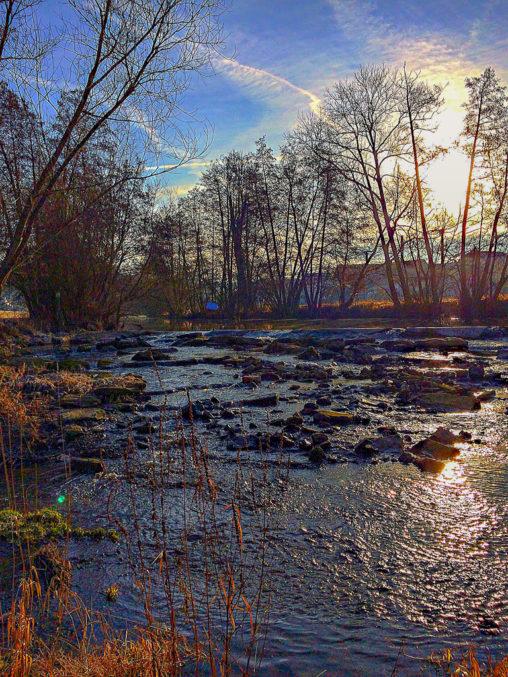 Aura an der Saale, Saale, Wasser, Bach, Fluss