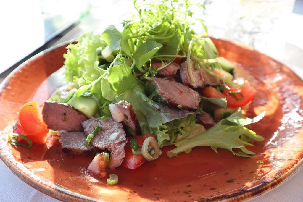 Meersburg, Restaurant, Seepromenade, Salat, Bodensee, Baden-Württemberg