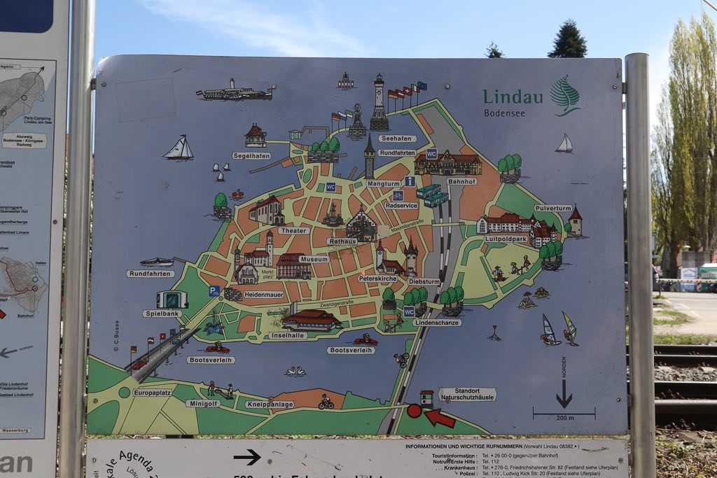 AbenteuerWomo, Bayern, Bodensee, Lindau, Lindau Insel, Wohnmobilreise, Stadtplan