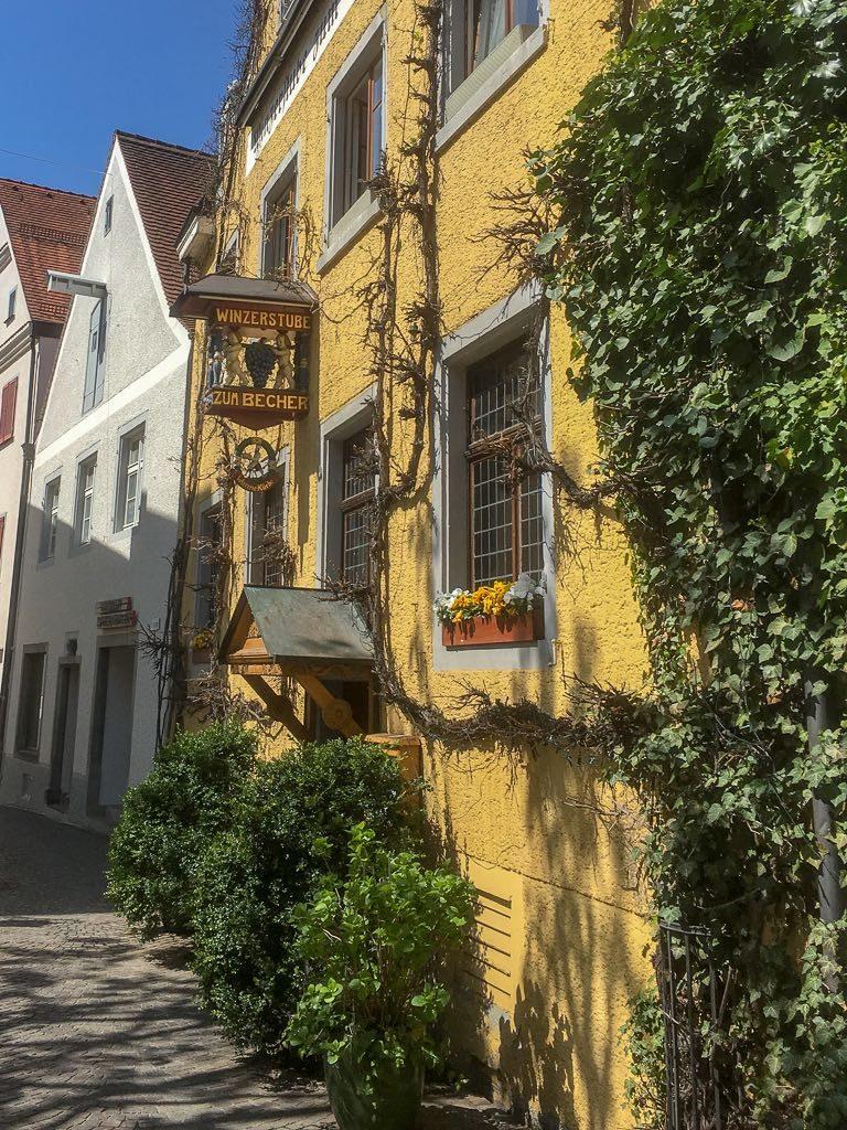 Meersburg, Bodensee, Baden-Württemberg, Fassaden, Häuser, Altstadt, Gasthaus, Zum Becher