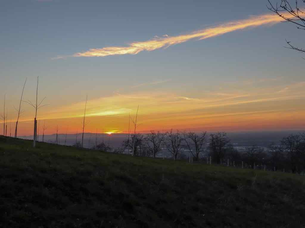 AbenteuerWomo, Sasbachwalden, Ortenau, Baden-Württemberg, Schnapsbrunnenweg, Sonnenuntergang, Landschaft, Weinberge