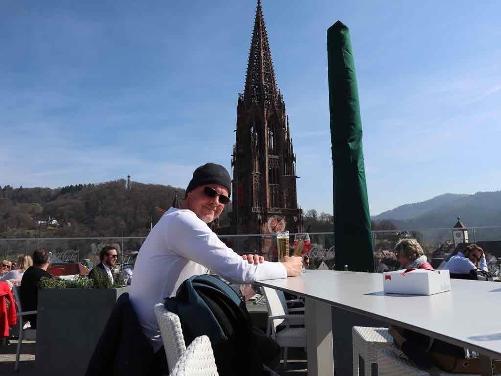 Freiburg, Breisgau, Baden-Württemberg, Münster, Kirche, Dom, AbenteuerWomo, Dach, Restaurant, Turmspitze