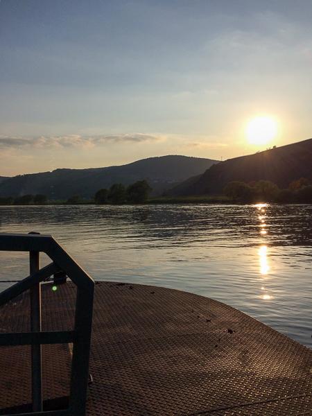 Brauneberg, Mosel, Sonnenuntergang, AbenteuerWomo, Anleger