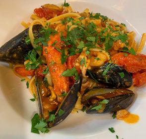 Italien, Sizilien Taormina, Il Ciclope, Trattoria, Spaghetti allo Scoglio, Pasta